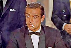 Sean Connery as James Bond in favorite movie,